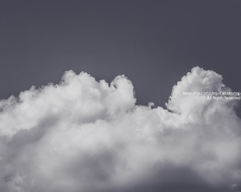 Daydream Clouds -Clouds And Sky Home Decor -Black & White Minimalistic Fine Art Nature Photo -Wall Art Living Room Bedroom Or Waiting Room