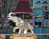 Handmade Ceramic Elephant Table Lamp,Elephant Home Decor