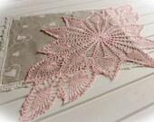 Crochet table runner Dusty pink crochet doily Lace table runner Crochet tablecloth Table decorations Linen decor