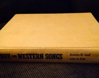 Cowboy And Western Songs -A Comprehensive Anthology- Vintage Songbook