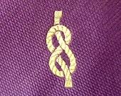 """Vintage POLO by Ralph Lauren 100% Silk """"FIGURE 8 KNOTS"""" on Deep Purple Trad / Ivy League Nautical Sailor Neck Tie."""