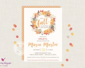 Fall Baby Shower Invitation // Baby Shower Invitation // Baby Sprinkle // Neutral Baby Shower Invitation // Falling in Love Baby Shower