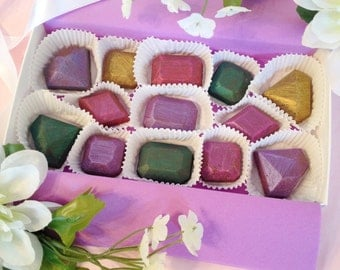 Chocolate Jewels - Gemstone Shaped Chocolates - gift ideas for women - Unique Chocolates