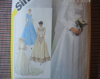 vintage 1980s Simplicity sewing pattern 5440 wedding or bridesmaids dress size 18/20