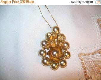 50% OFF antique flower pendant, vintage large flower pendant
