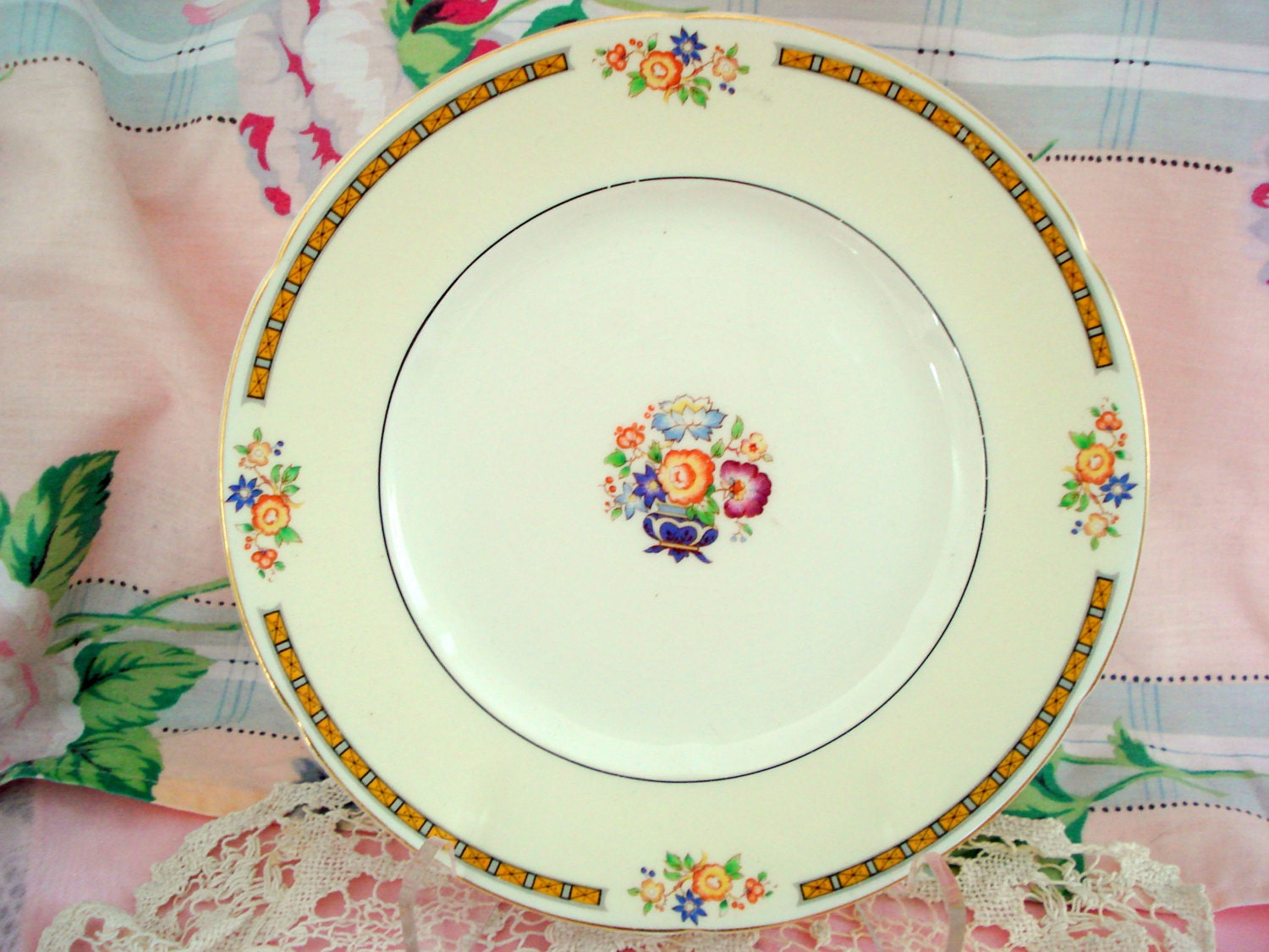 Vintage Wedding Luncheon Plates WH Grindley Ivory England