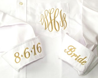 Bride Shirt with Gold - Gold Color Wedding Theme