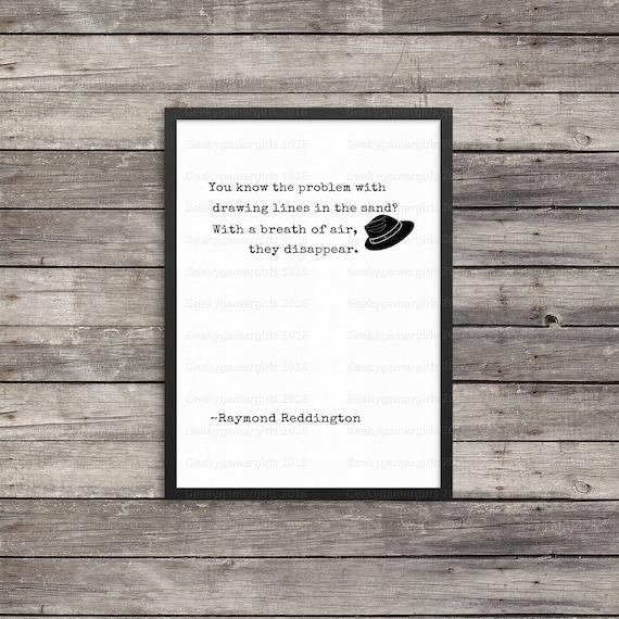 Citations de raymond reddington liste noire affiche for Art minimaliste citation