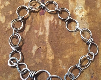 Handmade Fine Silver Bracelet