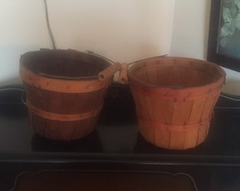 Pair of farmers market baskets