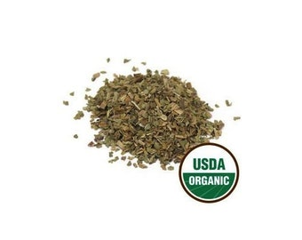 USDA Certified Organic Dried Plantain Leaf Plantago Major Tea Cut Sifted 1-16oz