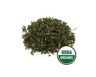 USDA Organic & Kosher Certified Dried Peppermint Leaf Mentha Piperita c/s 1-16oz