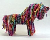Waldorf inspired TOY HORSE - RAINBOW - Traditional Waldorf knitted Horse. Horse toy stuffed animal. 100% wool. Australia