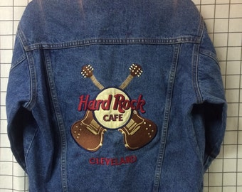 Vintage Hard Rock Cafe Cleveland Denim Jacket