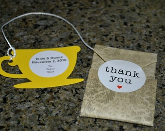 Tea Wedding Favors // Tea Wedding Favor // The Perfect Blend Tea Wedding Favors -- Quantity 50