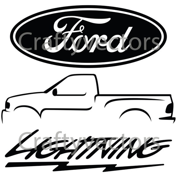 Ford Lightning Logos Vector