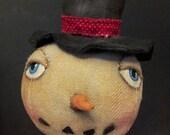 Whimsical Snowman Head