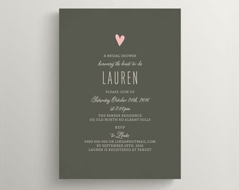 Printable Bridal Shower Invitation \ Wedding Shower Invitation \ Baby Shower Invite (BR127)