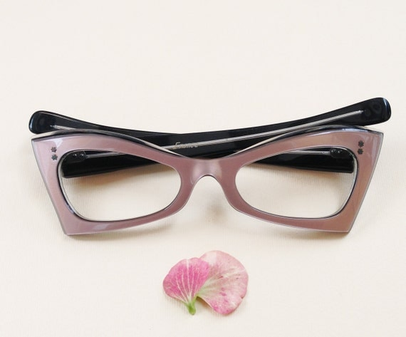 50s Cat-Eye Frames / Vintage french deadstock eyeglasses by