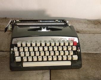 Vintage Manual Remington 333 Portable Typewriter