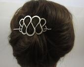 SILVER STICK BARRETTE-Curly Wire Design-Hair Sticks-Hair Jewelry-Big Hair Barrette
