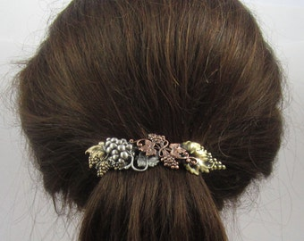 Grapevine French Barrette 80mm- Wine lovers Gift- Gift for Gardeners- French Hair Clip