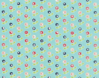Vintage Picnic by Bonnie and Camille for Moda, Aqua, Red, Pink, Green, Flowers 55121 12