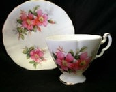 Prairie Rose by Royal Adderley Tea Cup and Saucer