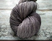 Fog KR Luxe, hand dyed fingering weight yarn, superwash merino wool and tussah silk, 434 yards