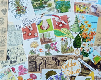 Gardening Paper Ephemera Craft Pack, Scrapbooking, Collage, Decoupage, Smash, Journals