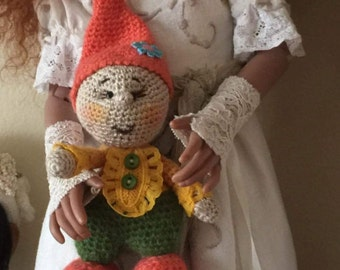 Handmade gnom toy for your doll