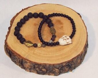 Buddha Gemstone Bracelet Stack