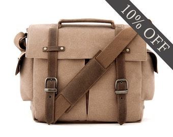 Trail Camera Bag / Messenger Bag / Tan