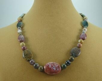 Natural Ocean Jasper 18.5 Inch Necklace Item #53