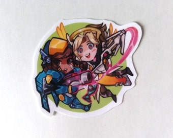 Pharmercy (Pharah and Mercy) Sticker