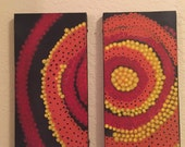 CORE original one of a kind diptych abstract acrylic painting art