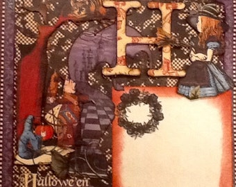 HALLOWEEN -Pre-made Halloween Layout Page-12x12-One Halloween Layout