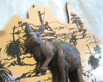 Australia Copper Wallaby Etched Wall art Very good