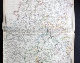Blackie 1860 Antique Map. North West Germany