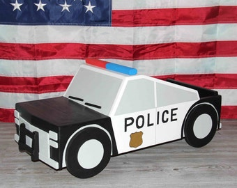 Wooden Police Car Photography Prop