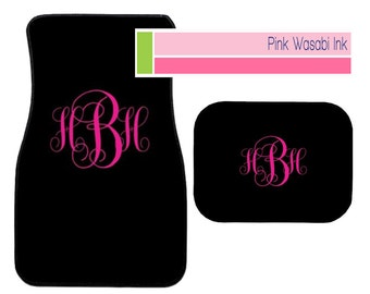 Monogrammed Car Mats Personalized Front Car Mats Auto Accessories Custom Car Mats Choose Colors