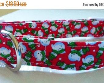 Sale 50% Off Christmas Dog Collar - Snow Man Dog Collar