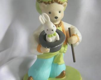 Avon Marcello the Magician Bear and Bunny Porcelain Figurine | 1993