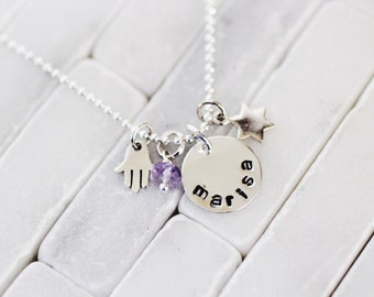 Bat Mitzvah Necklace - Bat Mitzvah Gift - Name Necklace - Jewish Star - Star of David - Gift For Her - Bat Mitzvah Gift - Jewish Gift
