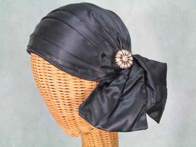 vintage 1920s 1940s 1950s hat womens rhinestone by klassicline