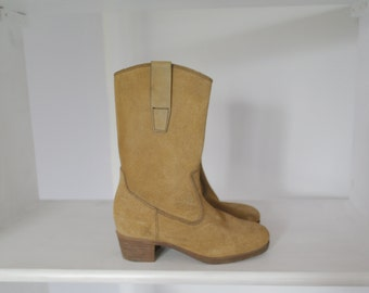 60 Vintage beige suede boots CHILD
