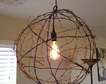 Tumbleweed Barb-Wire Pendant Light