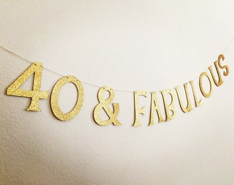 30th Birthday Banner, 30 & Fabulous Banner, 50th Birthday Banner, 30th Birthday Banner, 40th Birthday Banner, 30/40/50/60 Birthday
