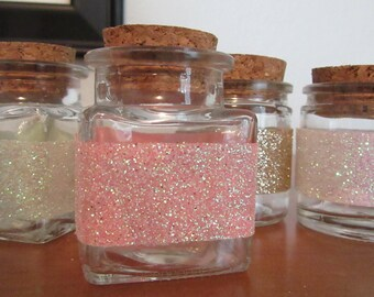 Small sparkle stripe stash jar/spice storage/decorative jar