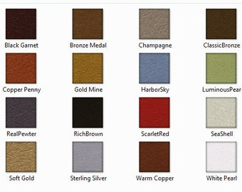 Color Chart For Metallic Accents ~ Not For Sale